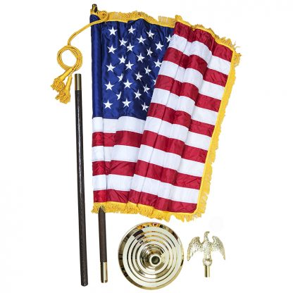 PS-115 9' US Indoor Parade Set with 4' x 6' Nylon Flag-43021