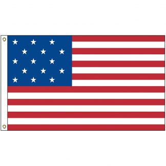 SSB-03 Star Spangled 3' x 5' Outdoor Nylon Printed Flag-0