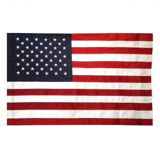 TF-130 2.5' X 4' Tough Tex U.S. Banner With Pole Sleeve-0