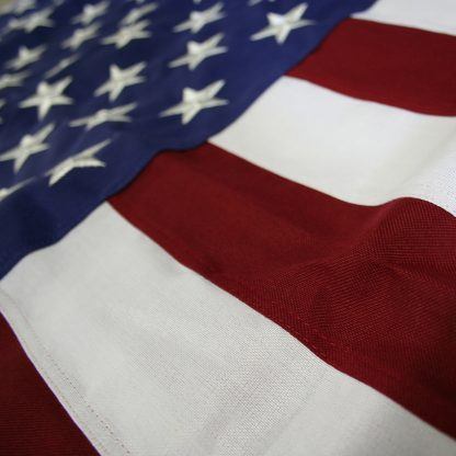 TF-125 2.5' X 4' Tough Tex U.S. Flag With Heading and Grommets-0