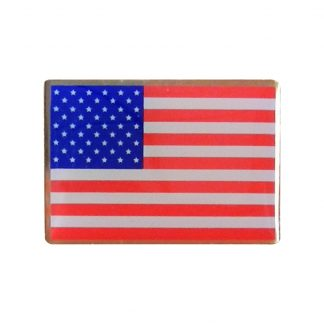 "USP-100 Screen Printed USA Flag Pin 5/8"" X 7/8""-0"