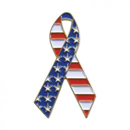 "USP-1R USA Flag Ribbon Pin (5/8x 1 1/4"")-0"