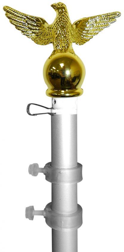 SP-206 6' Silver Aluminum Spinner Pole- Eagle Top -0