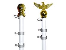 White Aluminum Spinner Pole