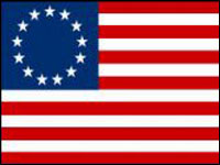 BR-03-S Betsy Ross 2' x 3' Outdoor Nylon Sewn & Embroidered - Pole Sleeve-0