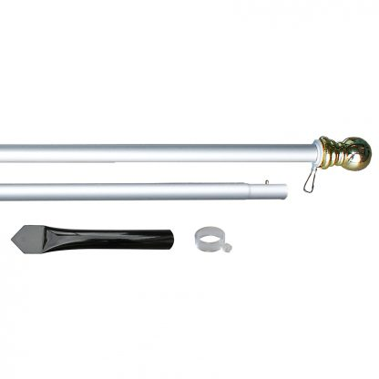 ADP-800CS 8' Silver Aluminum Display Pole-0