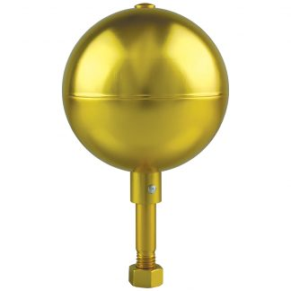 "GAB-120 Gold Anodized Ball 8"" Aluminum-0"