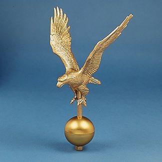 "GAE-115 Gold Alum. Eagle 16"" Wingspan W/ Gold Ball At Base-0"