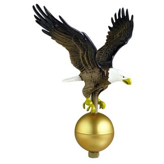 "GAE-125 Color Eagle 12"" Wingspan W/ Gold Ball At Base-0"
