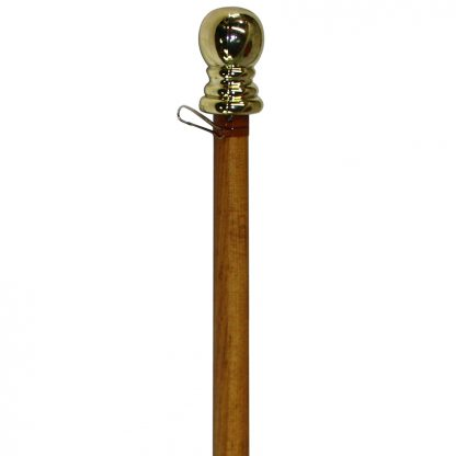 SP-404 5' Wood Finish Aluminum Spinner Pole - Ball Top-0