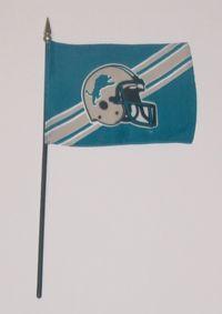 """NFL-46-LIONS Detroit Lions 4"""" x 6"""" Handheld Flag-0"""