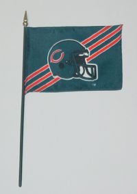 "NFL-46-BEARS Chicago Bears 4"" x 6"" Handheld Flag-0"