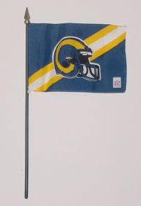 """NFL-46-RAMS St. Louis Rams 4"""" x 6"""" Handheld Flag-0"""
