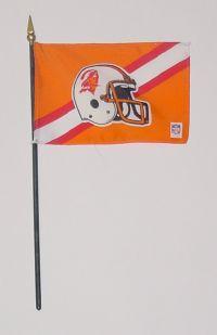 "NFL-46-BUCCANEERS Tampa Bay Buccaneers 4"" x 6"" Handheld Flag -0"