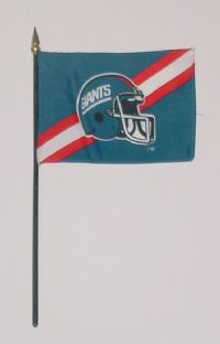 "NFL-46-GIANTS New York Giants 4"" x 6"" Handheld Flag-0"