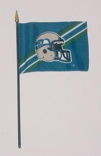 """NFL-46-SEAHAWKS Seattle Seahawks 4"""" x 6"""" Handheld Flag-0"""