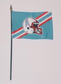 """NFL-46-OILERS Houston Oilers 4"""" x 6"""" Handheld Flag-0"""