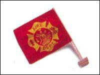 CAR-FIREP Fire Department Polyester Car Flag -0
