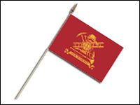 "FF-1218 Firefighter 12'' x 18"" Staff-mounted Flag on 30"" Wooden Dowel-0"