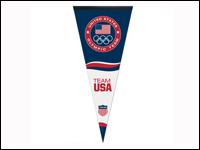 """USOC-USAVP 17"""" x 40"""" USOC Team USA Logo Vertical Pennant-0"""