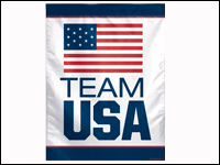 "USOC-USAVB 27"" x 37"" USOC Team USA Logo Vertical Banner-0"