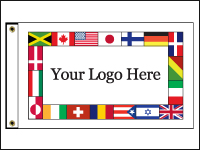 INTL-CUSTOM-23 International Custom 2x3' Knit Poly Flag With Heading And Grommets-0