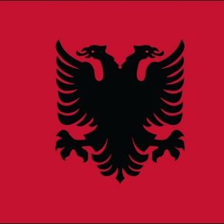035004 Albania 6' x 10' Outdoor Nylon Flag with Heading and Grommets-0