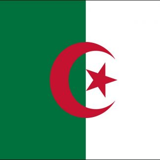 035005 Algeria 6' x 10' Outdoor Nylon Flag with Heading and Grommets-0
