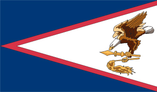 SF-104-AMERICANSAMOA Amercian Samoa 4' x 6' Nylon Flag with Heading and Grommets-0
