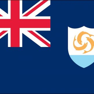 035009 Anguilla 6' x 10' Nylon Flag with Heading & Grommets-0