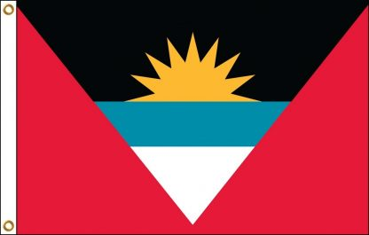 035010 Antigua & Barbuda 6' x 10' Outdoor Nylon Flag with Heading and Grommets-0
