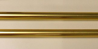 "APP-105 Deluxe Aluminum Parade Pole 8' x 1 1/8"" Gold (no Ball Ornament)-0"