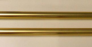 "APP-115 Deluxe Aluminum Parade Pole 9' x 1.25"" Gold (no Ball Ornament)-0"