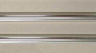 "APP-110 Deluxe Aluminum Parade Pole 8' x 1 1/8"" Silver (no Ball Ornament)-0"