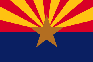 SF-104P-ARIZONA Arizona 4' x 6' 2-ply Polyester Flag with Heading and Grommets-0