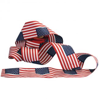"UB-552 8"" Wide X 24' Long Poly/cotton Bunting U.S. Flag - 8"" x 12"" Pattern-0"