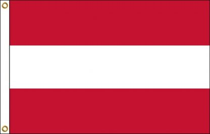 FW-110-AUSTRIA Austria No Seal 2' x 3' Outdoor Nylon Flag with Heading and Grommets-0