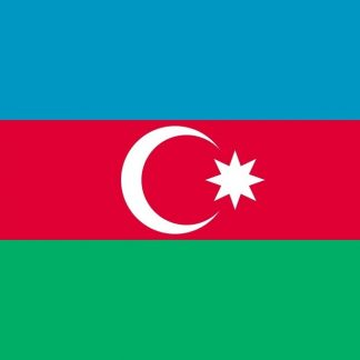 035018 Azerbaijan 6' x 10' Outdoor Nylon Flag with Heading and Grommets-0