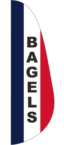 FEF-3X10-BAGELS Bagels 3' x 10' Message Feather Flag-0