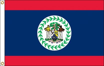 FW-140-4X6BELIZE Belize 4' x 6' Outdoor Nylon Flag with Heading and Grommets-0