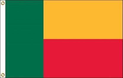 FW-125-3X5BENIN Benin 3' x 5' Outdoor Nylon Flag with Heading and Grommets-0