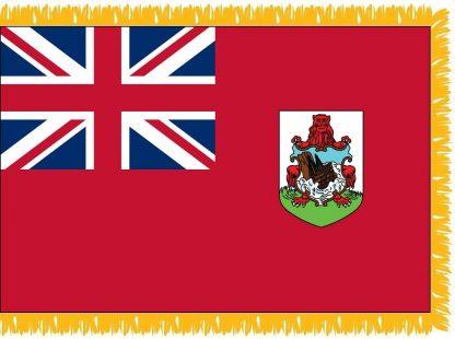 FWI-240-4X6BERMUDA Bermuda 4' x 6' Indoor Flag with Pole Sleeve and Fringe-0