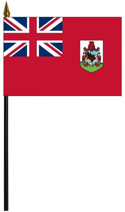 """MRF-46-BERMUDA Bermuda 4'' x 6"""" Staff Mounted Rayon-0"""