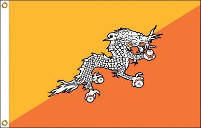 FW-140-BHUTAN Bhutan 2' x 3' Outdoor Nylon Flag with Heading and Grommets-0