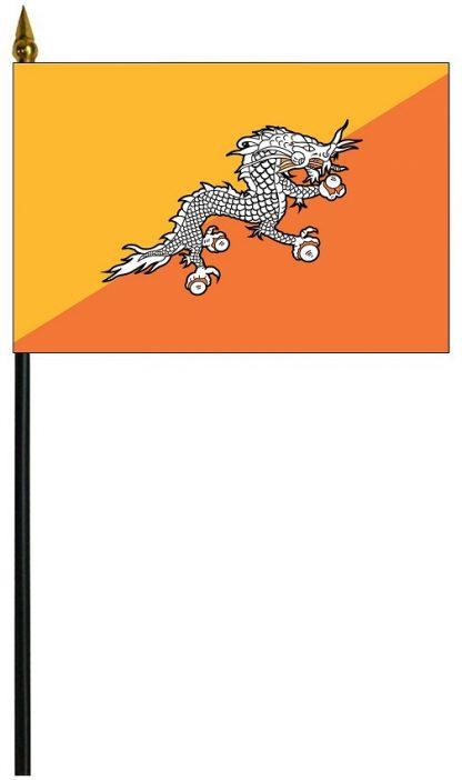"MRF-46-BHUTAN Bhutan 4'' x 6"" Staff Mounted Rayon-0"