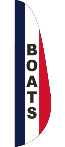 FEF-3X12-BOATS Boats 3' x 12' Message Feather Flag-0