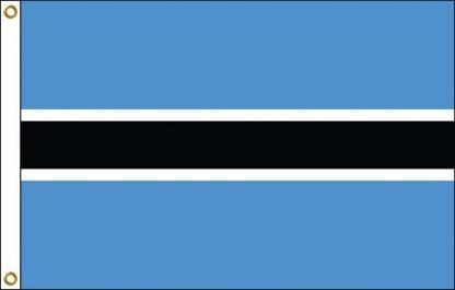 FW-115-3X5BOTSWANA Botswana 3' x 5' Outdoor Nylon Flag with Heading and Grommets-0