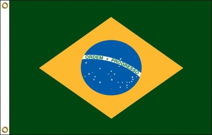 FW-125-3X5BRAZIL Brazil 3' x 5' Outdoor Nylon Flag with Heading and Grommets-0