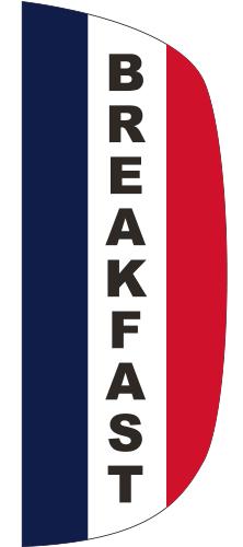 FLF-3X8-BREAKFAST Breakfast 3' x 8' Message Flutter Flag-0