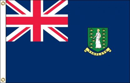 035036 British Virgin Islands 6' x 10' Outdoor Nylon Flag with Heading and Grommets-0